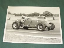 "ERA R6B Sid Day at speed in 1960s Silverstone VSCC race 10x6""  period photo"